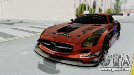 Mercedes-Benz SLS AMG GT3 PJ7 pour GTA San Andreas vue de dessous