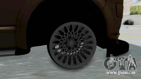Volkswagen Transporter TDI Final pour GTA San Andreas sur la vue arrière gauche