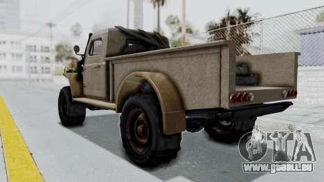 GTA 5 Bravado Duneloader Cleaner Worn pour GTA San Andreas laissé vue