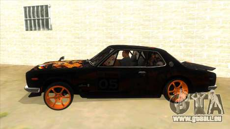 1971 Nissan GT-R Hakosuka pour GTA San Andreas laissé vue