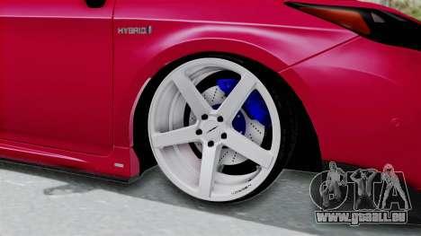 Toyota Prius 2011 Elegant Modification pour GTA San Andreas vue arrière