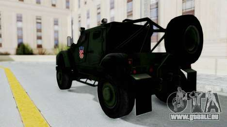 Croatian Oshkosh M-ATV Woodland für GTA San Andreas linke Ansicht