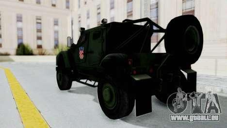 Croatian Oshkosh M-ATV Woodland für GTA San Andreas linke Ansicht
