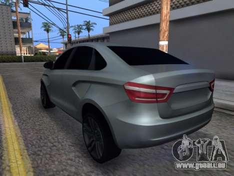 Lada Vesta HD (beta) pour GTA San Andreas sur la vue arrière gauche