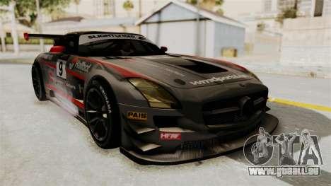 Mercedes-Benz SLS AMG GT3 PJ2 pour GTA San Andreas vue de dessus