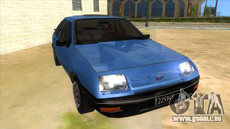 Ford Sierra 1.6 GL Updated pour GTA San Andreas vue arrière