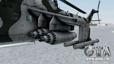 Mi-24V GDR Air Force 45 pour GTA San Andreas vue arrière
