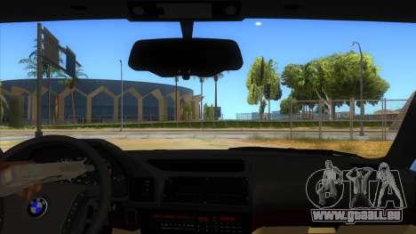 BMW M5 E34 Touring für GTA San Andreas Innenansicht