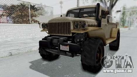 GTA 5 Bravado Duneloader Cleaner Worn pour GTA San Andreas
