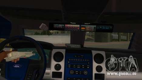 Black Scorpion Police pour GTA San Andreas vue intérieure