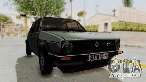 Volkswagen Golf Mk1 GTI pour GTA San Andreas vue de droite