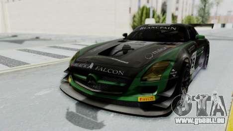 Mercedes-Benz SLS AMG GT3 PJ7 pour GTA San Andreas vue de côté