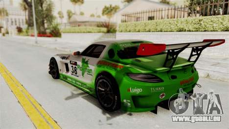 Mercedes-Benz SLS AMG GT3 PJ4 pour GTA San Andreas vue intérieure