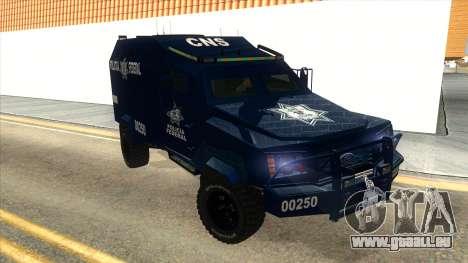Black Scorpion Police für GTA San Andreas Rückansicht