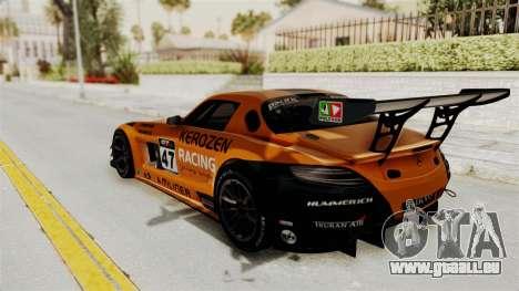Mercedes-Benz SLS AMG GT3 PJ4 pour GTA San Andreas vue de dessus