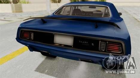 Plymouth Hemi Cuda 1971 Drag für GTA San Andreas Innenansicht