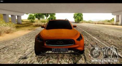 Infiniti FX37 für GTA San Andreas rechten Ansicht