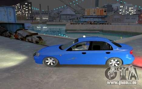 Daewoo Lanos Taxi für GTA 4 linke Ansicht