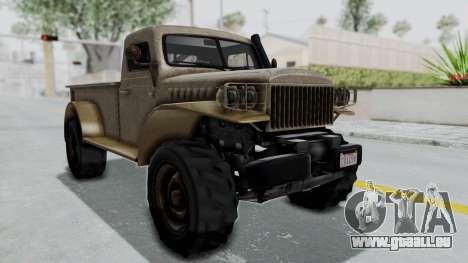 GTA 5 Bravado Duneloader Cleaner Worn pour GTA San Andreas vue de droite