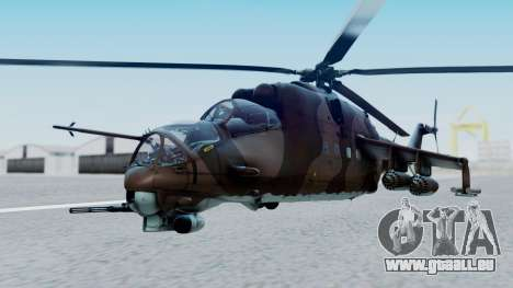 Mi-24V Soviet Air Force 0835 für GTA San Andreas