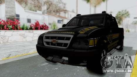 Chevrolet S10 Policia Caminera Paraguaya pour GTA San Andreas