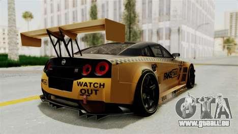 Nissan GT-R Fake Taxi für GTA San Andreas rechten Ansicht