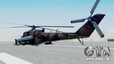 Mi-24V Soviet Air Force 0835 für GTA San Andreas linke Ansicht