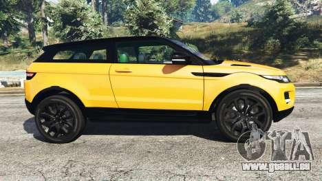GTA 5 Range Rover Evoque vue latérale gauche