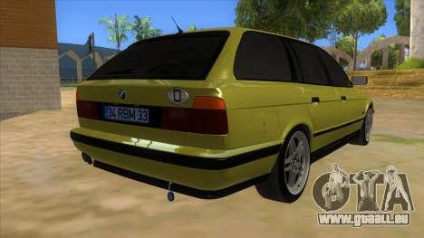 BMW M5 E34 Touring pour GTA San Andreas vue de droite