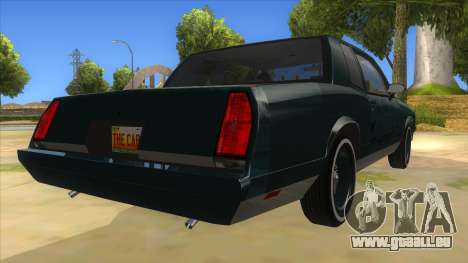 Chevrolet Monte Carlo 81 pour GTA San Andreas vue de droite
