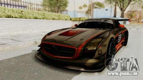 Mercedes-Benz SLS AMG GT3 PJ4 pour GTA San Andreas vue de dessous