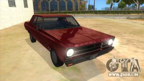 1965 Plymouth Belvedere 2-door Sedan pour GTA San Andreas vue arrière