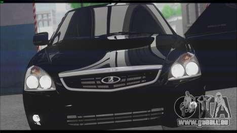 Lada Priora Sedan pour GTA San Andreas vue de dessus