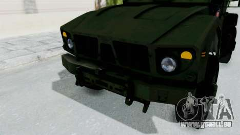Croatian Oshkosh M-ATV Woodland für GTA San Andreas Unteransicht