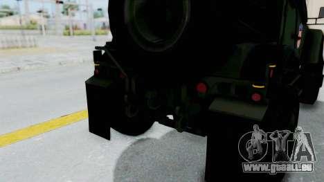 Croatian Oshkosh M-ATV Woodland für GTA San Andreas Motor