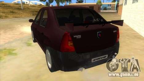 Dacia Logan Sport für GTA San Andreas zurück linke Ansicht