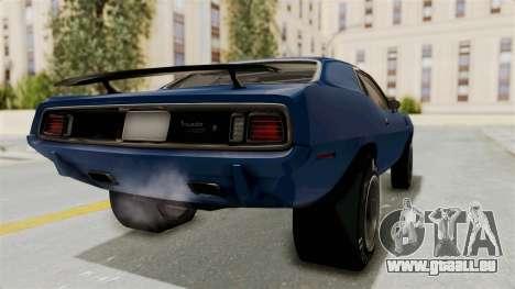 Plymouth Hemi Cuda 1971 Drag pour GTA San Andreas sur la vue arrière gauche