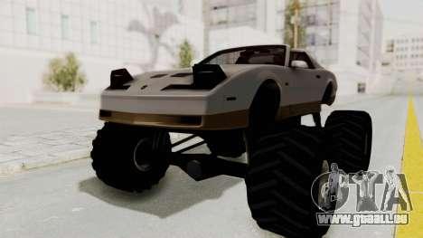 Pontiac Firebird Trans Am Monster Truck 1982 für GTA San Andreas zurück linke Ansicht