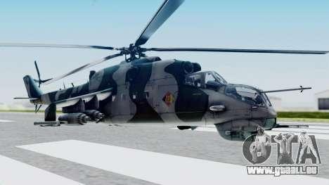 Mi-24V GDR Air Force 45 pour GTA San Andreas