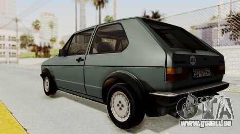 Volkswagen Golf Mk1 GTI pour GTA San Andreas laissé vue