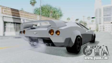 GTA Vice City - Infernus pour GTA San Andreas sur la vue arrière gauche