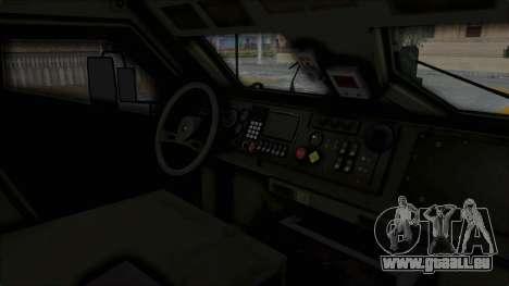 Croatian Oshkosh M-ATV Woodland pour GTA San Andreas vue de côté