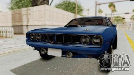 Plymouth Hemi Cuda 1971 Drag für GTA San Andreas