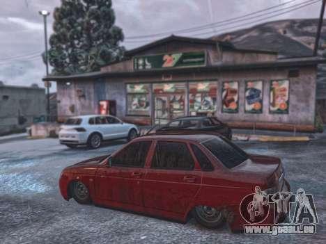 GTA 5 Lada Priora VAZ 2170 vue latérale gauche