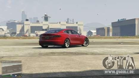 GTA 5 Tesla Model S vue arrière