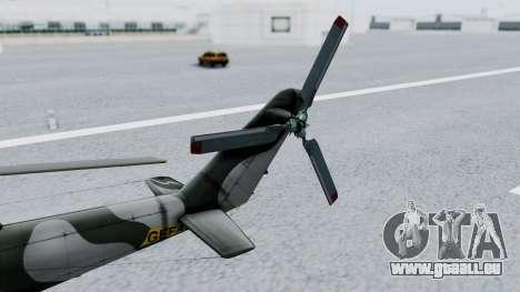 Mi-24V GDR Air Force 45 pour GTA San Andreas vue de droite
