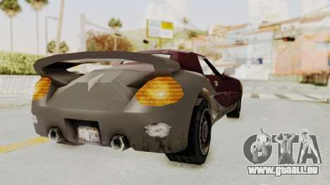 GTA 3 Yakuza Stinger pour GTA San Andreas vue de droite
