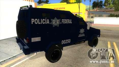 Black Scorpion Police pour GTA San Andreas vue de droite