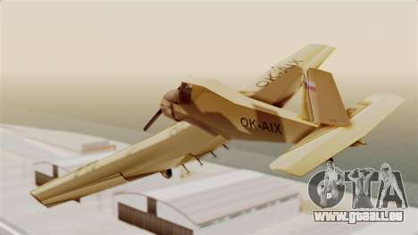 Z-37 Cmelak pour GTA San Andreas laissé vue