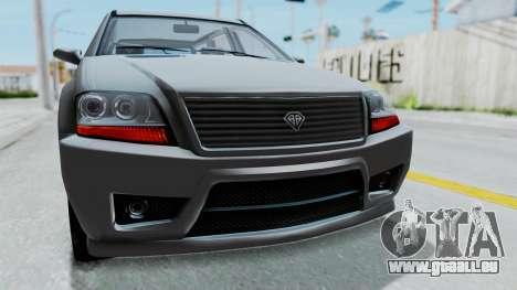 GTA 5 Benefactor Serrano IVF pour GTA San Andreas vue intérieure